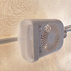 LED bunk end fan lights