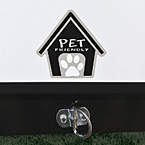 Exterior leash clip
